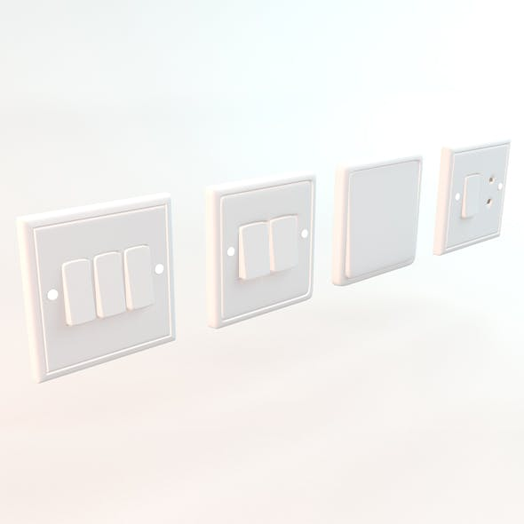 Wall Switches - 3DOcean Item for Sale