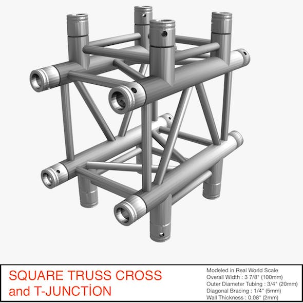 Square Truss Cross and T- Junction 31 - 3DOcean Item for Sale