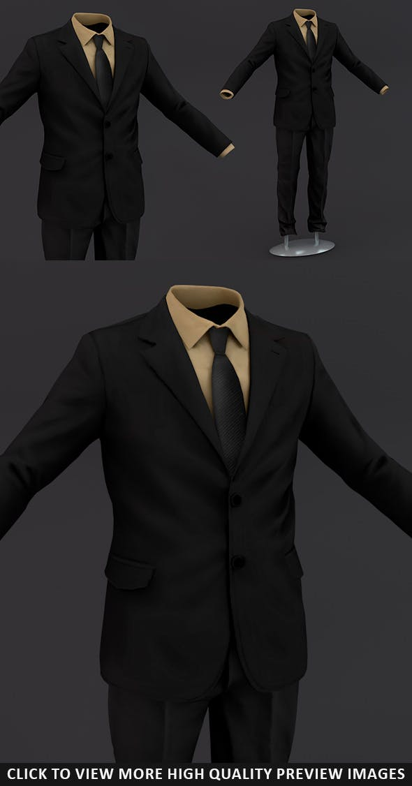 Men suit - 3DOcean Item for Sale