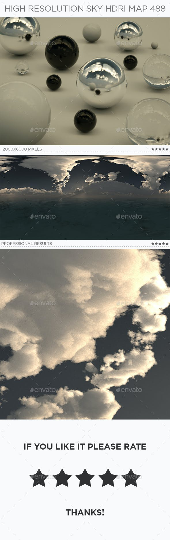 High Resolution Sky HDRi Map 488 - 3DOcean Item for Sale