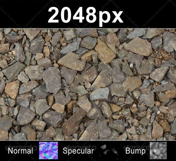 Gravel Stone 01 - Set - 3DOcean Item for Sale