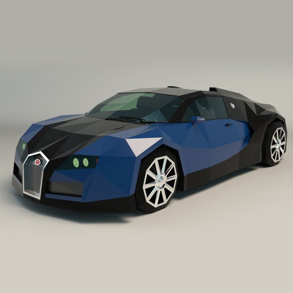 Low Poly Sports Car 03
