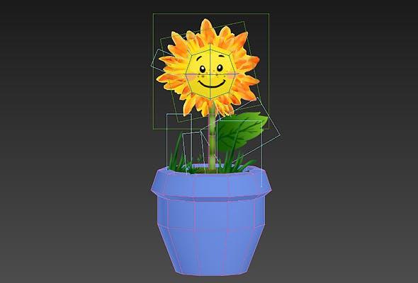 low poly cartoon flower - 3DOcean Item for Sale
