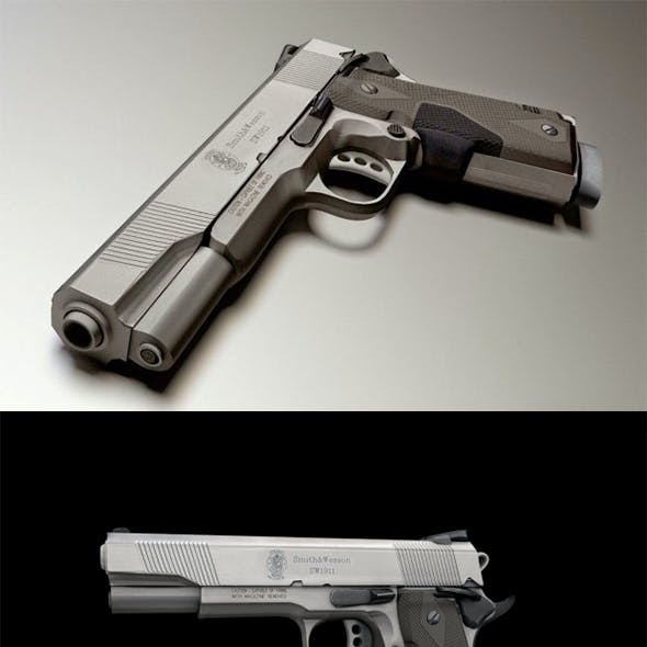 45 ACP Smith And Wesson, Hand Gun