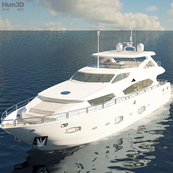 Sunseeker 30m Yacht - 3DOcean Item for Sale