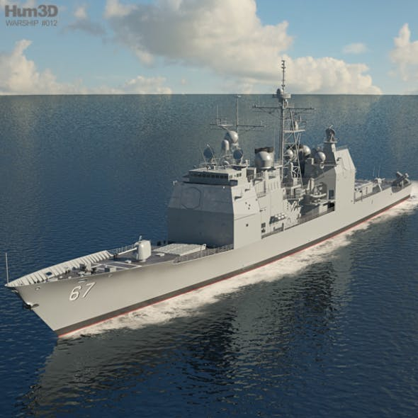 Ticonderoga-class cruiser - 3DOcean Item for Sale