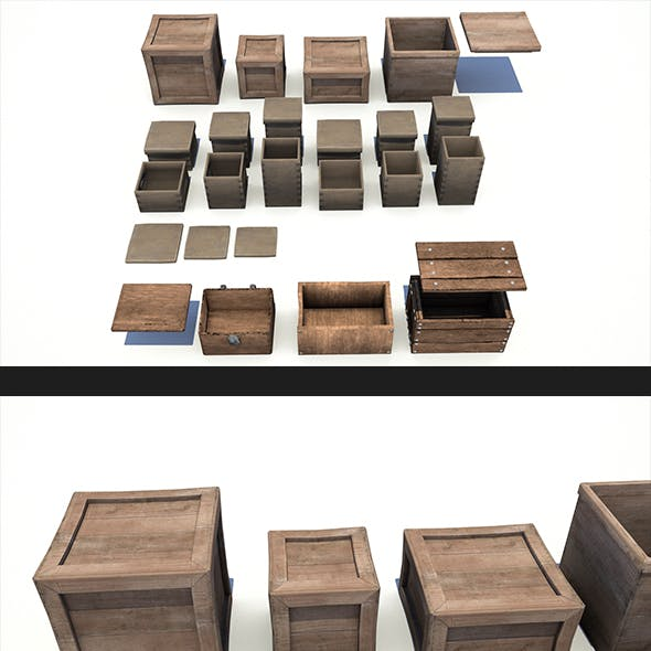Wooden Crates and Boxes Pack