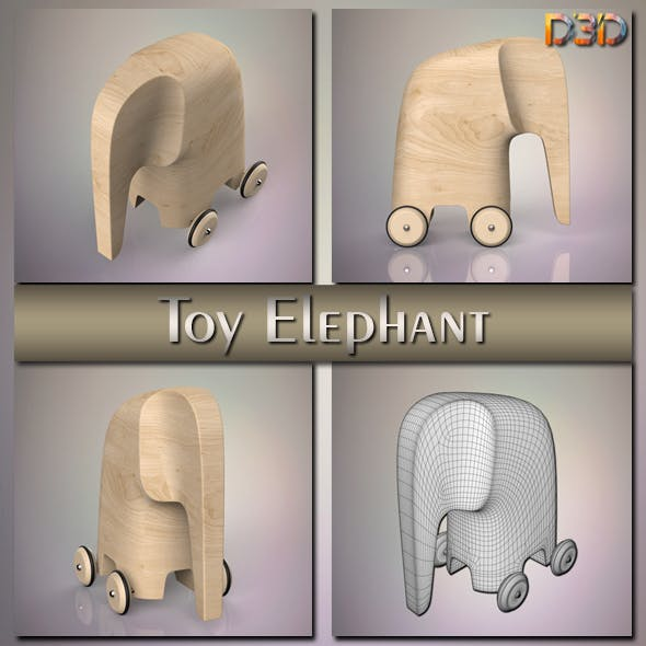 Toy Elephant - 3DOcean Item for Sale