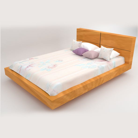 Bed 02 - 3DOcean Item for Sale