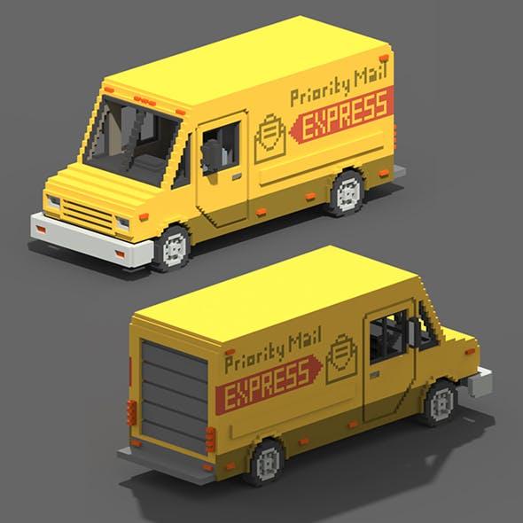 Voxel Mail Van