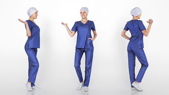 Surgical nurse 04 - 3DOcean Item for Sale