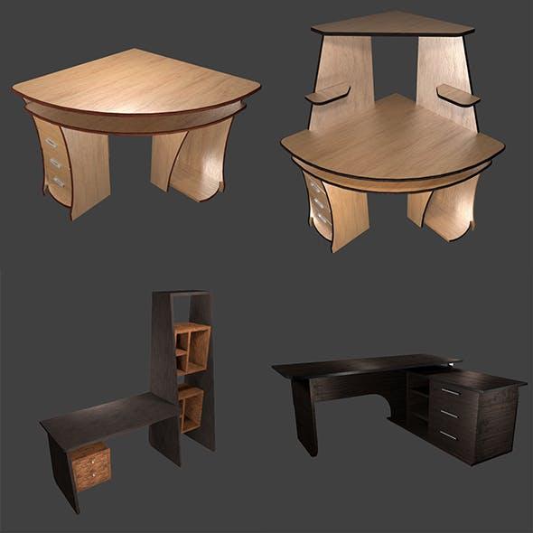 Set of 4 tables - 3DOcean Item for Sale
