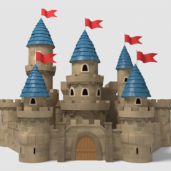 Castle cartoon - 3DOcean Item for Sale