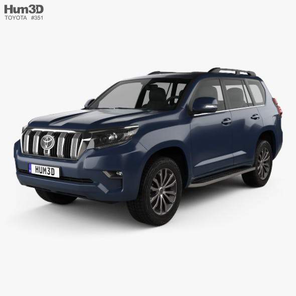 Toyota Land Cruiser Prado 5-door EU-spec 2018 - 3DOcean Item for Sale