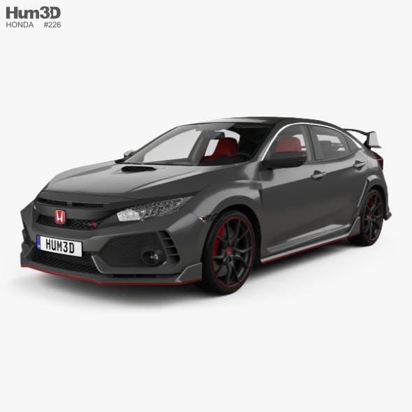 Honda Civic Type-R Prototype hatchback with HQ interior 2016 - 3DOcean Item for Sale