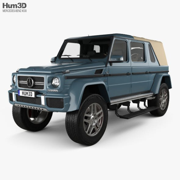 Mercedes-Benz G-class (W463) Maybach Landaulet with HQ interior 2017 - 3DOcean Item for Sale