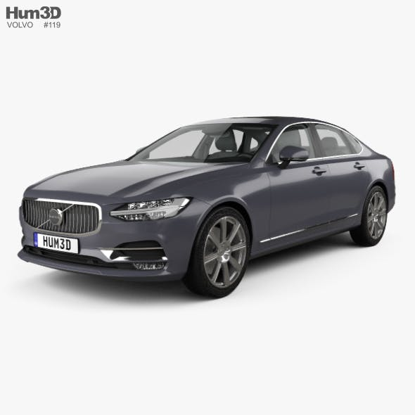 Volvo S90 with HQ interior 2017 - 3DOcean Item for Sale