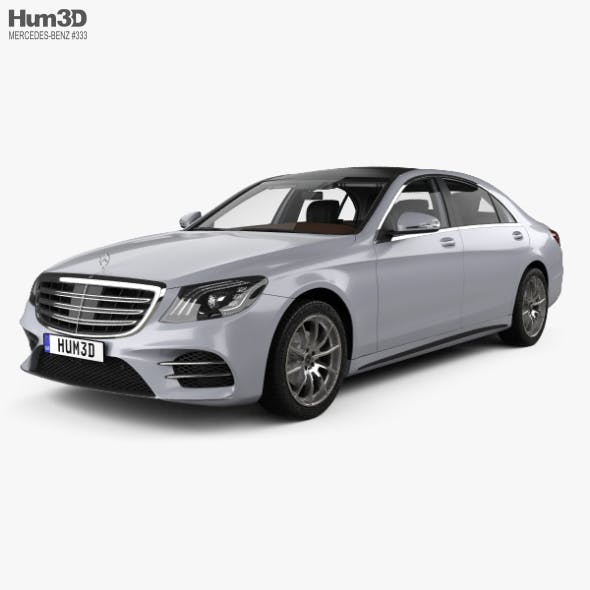 Mercedes-Benz S-class (V222) LWB AMG Line with HQ interior 2017 - 3DOcean Item for Sale