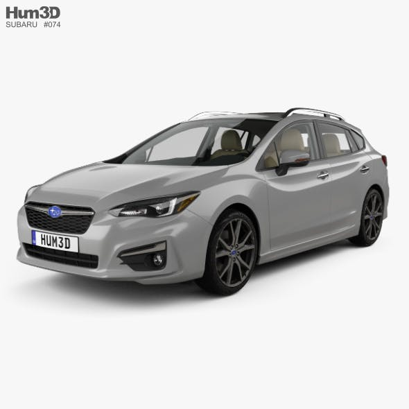 Subaru Impreza 5-door hatchback with HQ interior 2016 - 3DOcean Item for Sale