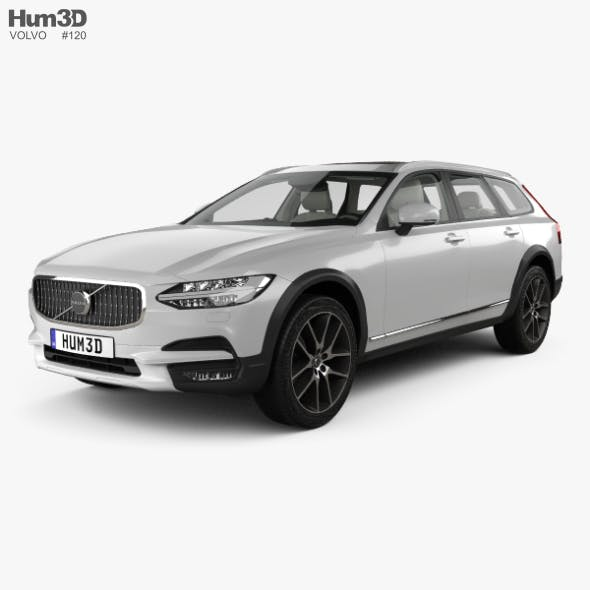 Volvo V90 T6 Cross Country with HQ interior 2016 - 3DOcean Item for Sale