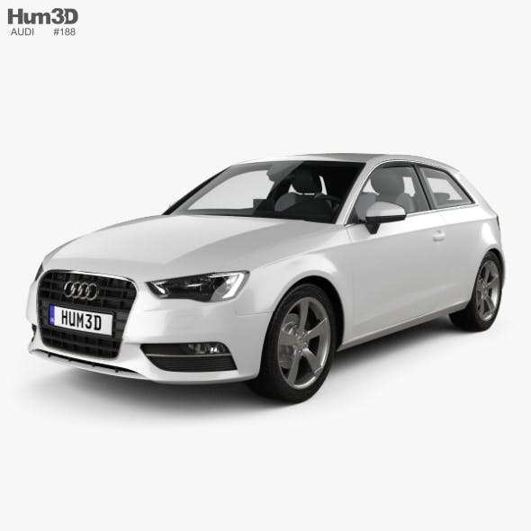 Audi A3 hatchback 3-door with HQ interior 2013 - 3DOcean Item for Sale