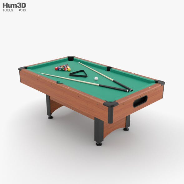 Pool Table - 3DOcean Item for Sale
