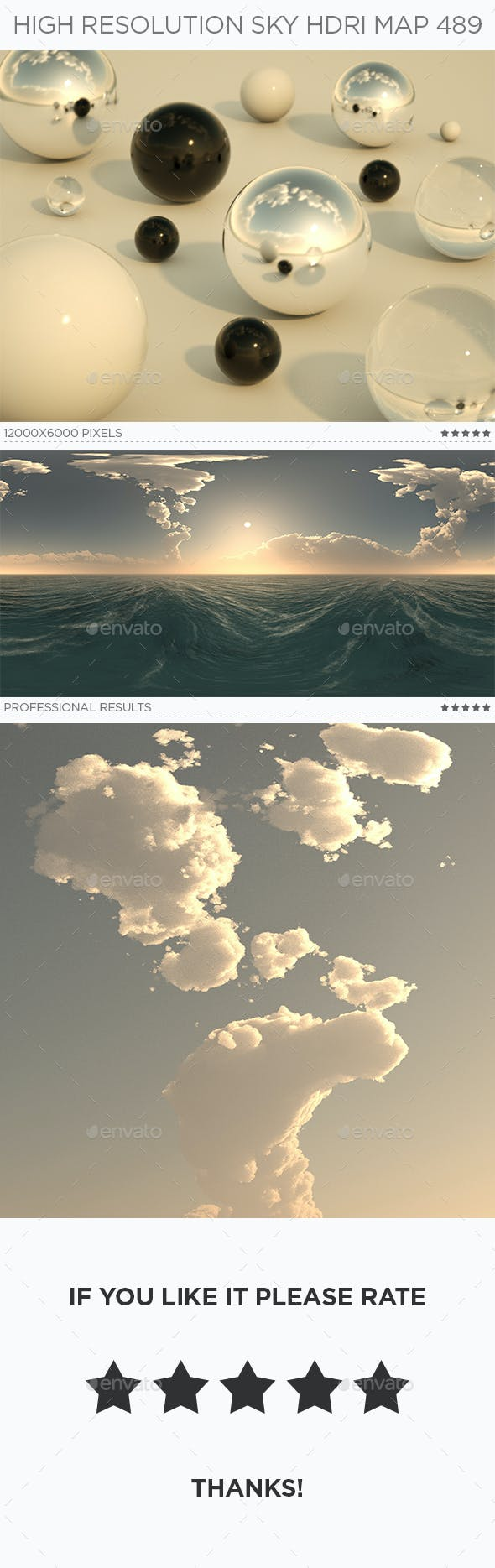 High Resolution Sky HDRi Map 489 - 3DOcean Item for Sale
