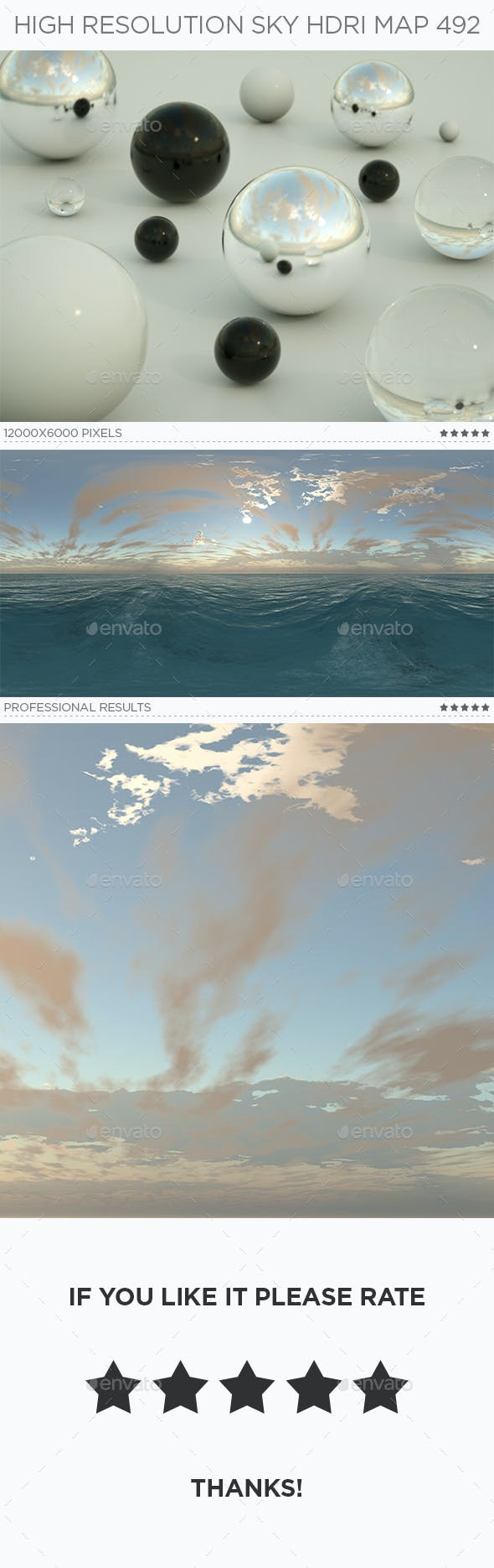 High Resolution Sky HDRi Map 492 - 3DOcean Item for Sale