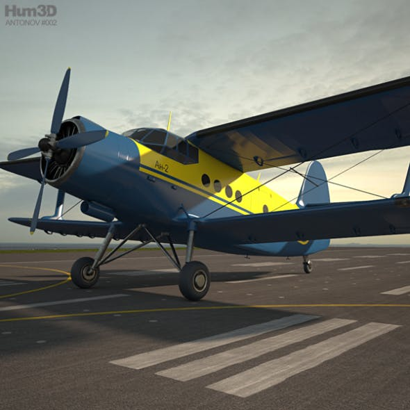 Antonov An-2 - 3DOcean Item for Sale