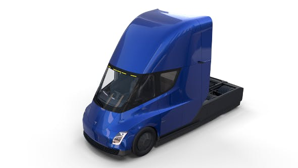 Tesla Truck with Interior Blue - 3DOcean Item for Sale