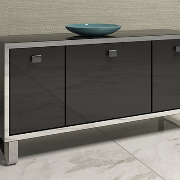 Table TV glossy with mirror insert