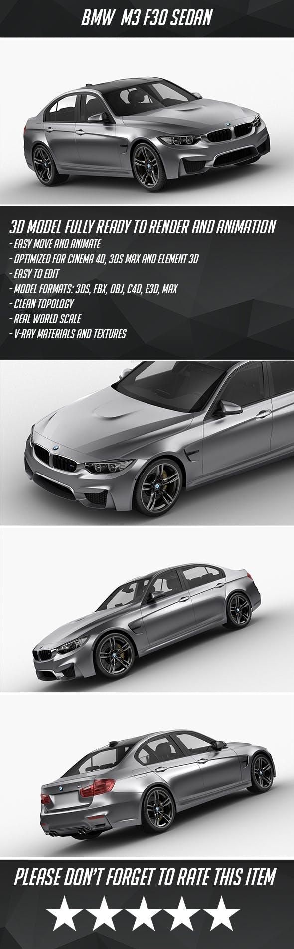BMW M3 F30 Sedan 2015 - 3DOcean Item for Sale