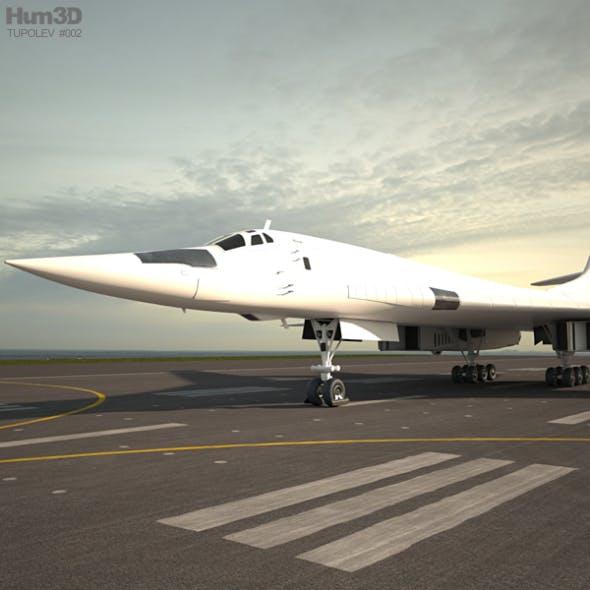 Tupolev Tu-160 - 3DOcean Item for Sale