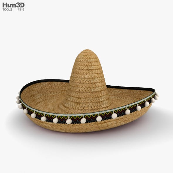 Sombrero - 3DOcean Item for Sale