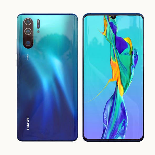 Huawei P30 Pro Model Element 3D - 3DOcean Item for Sale