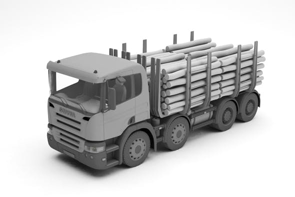 Wood truck - 3DOcean Item for Sale