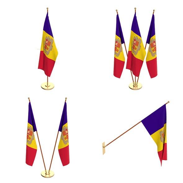 Andorra Flag Pack - 3DOcean Item for Sale
