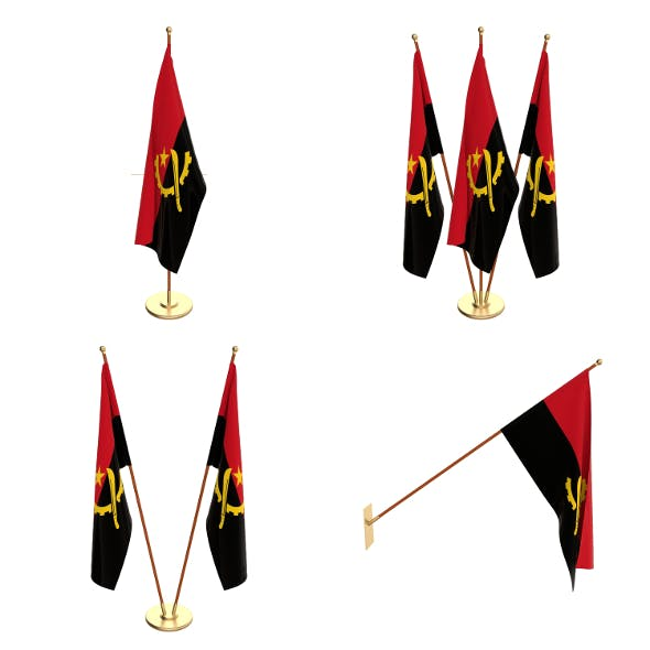 Angola Flag Pack - 3DOcean Item for Sale