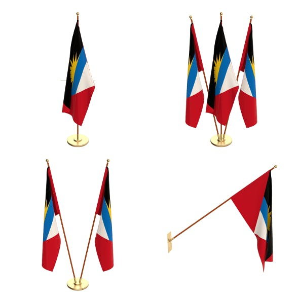 Antigua and Barbuda Flag Pack - 3DOcean Item for Sale
