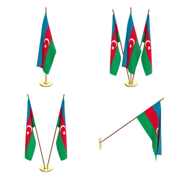 Azerbaijan Flag Pack - 3DOcean Item for Sale