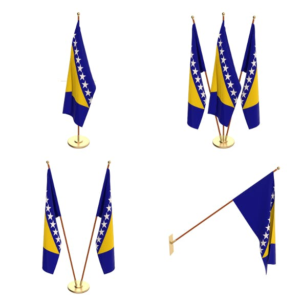 Bosnia and Herzegovina Flag Pack - 3DOcean Item for Sale