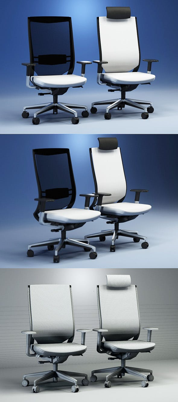 Quality 3dmodel of modern chairs Duera. Kloeber - 3DOcean Item for Sale