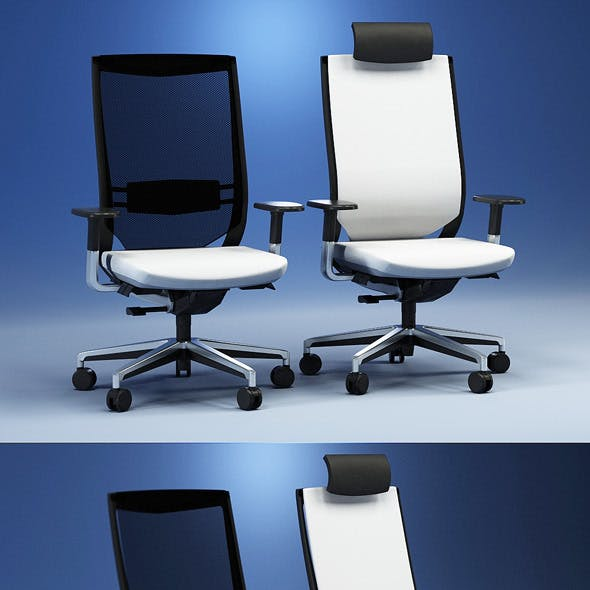 Quality 3dmodel of modern chairs Duera. Kloeber