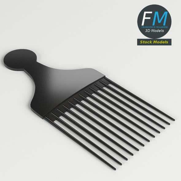 Hair pick comb - 3DOcean Item for Sale