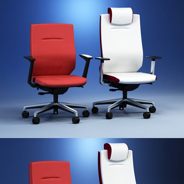 Quality 3dmodel of modern chairs Itera. Kloeber