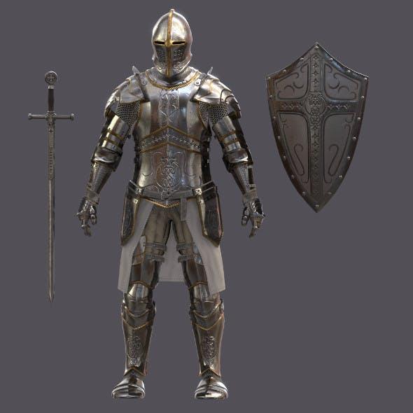 Templar Knight Armor - 3DOcean Item for Sale