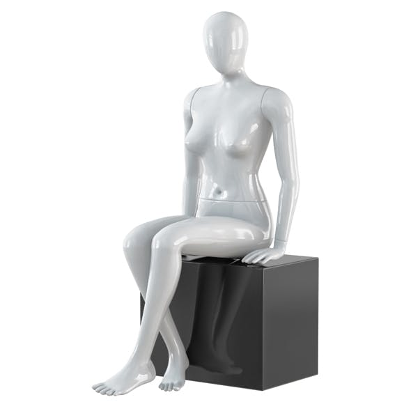 Abstract female mannequin 21 - 3DOcean Item for Sale