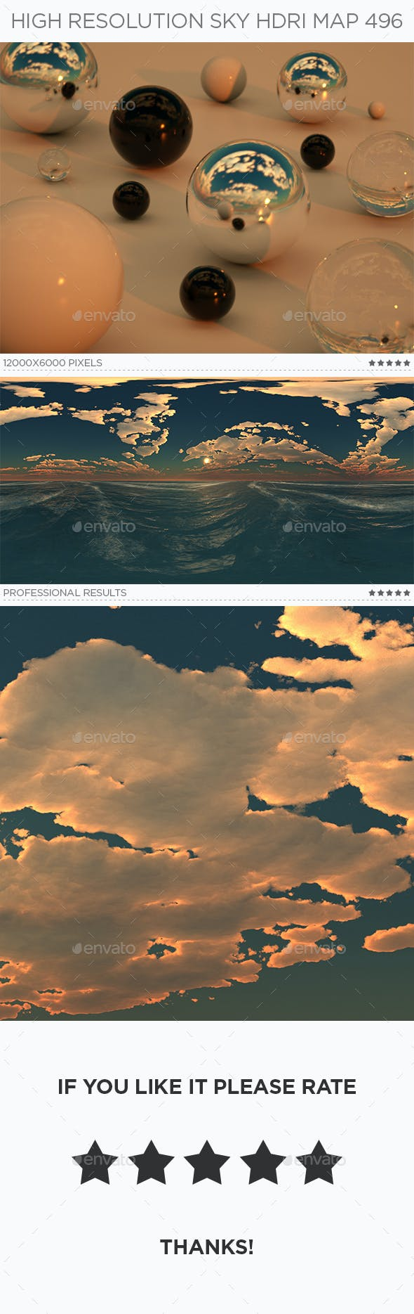 High Resolution Sky HDRi Map 496 - 3DOcean Item for Sale