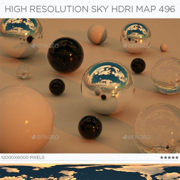 High Resolution Sky HDRi Map 496