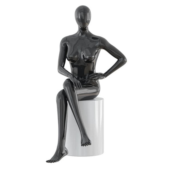 Seated faceless woman mannequin 22 - 3DOcean Item for Sale